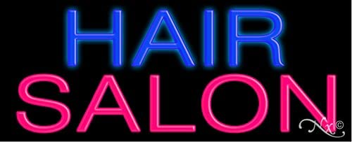 Hair Salon Glass neon Max 72% OFF Sign USA in Genuine #10073 Made