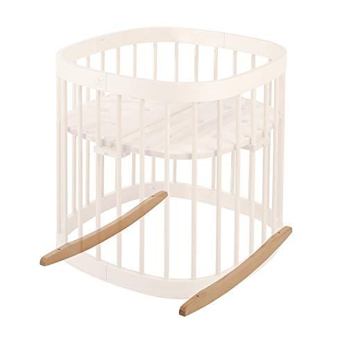 tweeto® Babybett Wippe Wiegekufen- buche - Schaukel Schaukelfunktion Bettschaukel Baby Einschlafhilfe