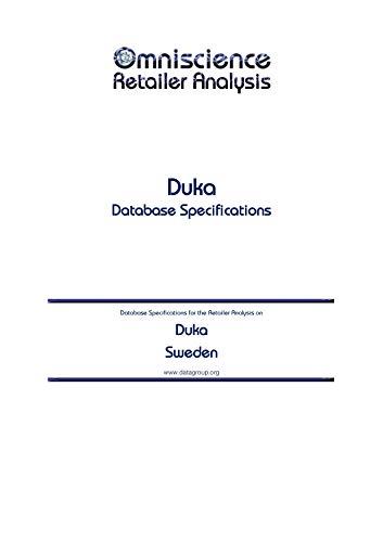 Duka - Sweden: Retailer Analysis Database Specifications (Omniscience Retailer Analysis - Sweden Book 29979) (English Edition)