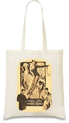 Künstler und Modelle Poster - Artists And Models Poster Custom Printed Tote Bag| 100% Soft Cotton| Natural Color & Eco-Friendly| Unique, Re-Usable & Stylish Handbag For Every Day Use| Custom Shoulder