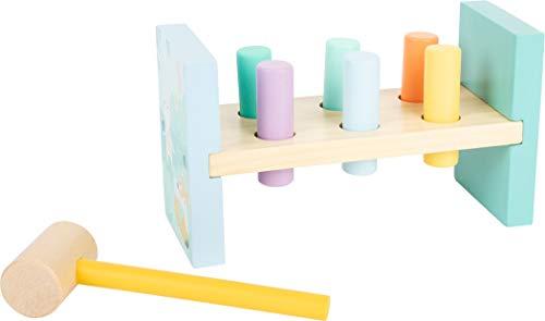 Small Foot 11723 Klopfbank Pastell, aus Holz, in trendigen Pastellfarben, zur Förderung der Feinmotorik, ab 18 Monaten Toys