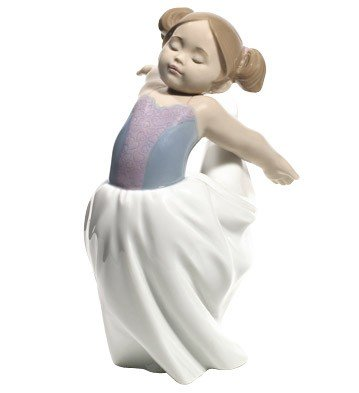 Nao Lladro 02001689 Figur About To Go On Stage Figur Ornament