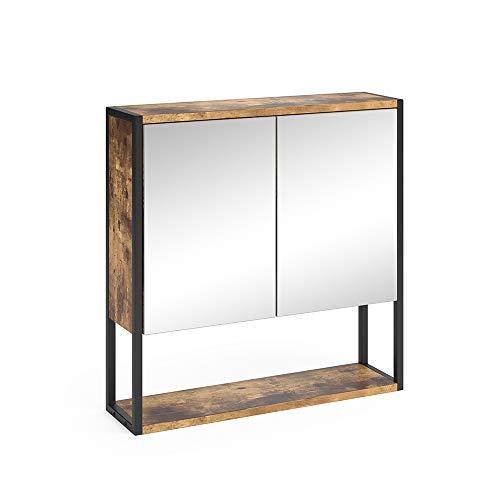 Vicco Spiegelschrank Fyrk Badschrank Badmöbel Badspiegel mit Ablagen Wandspiegel (Vintage)