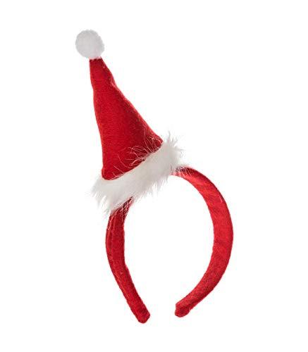Feeric Christmas haarband voor volwassenen, eenheidsmaat D. 12 x H. 29 cm Rood