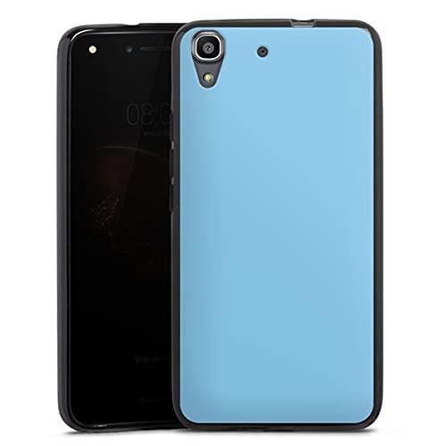 DeinDesign Silikon Hülle kompatibel mit Huawei Y6 2016 Hülle schwarz Handyhülle Blau einfarbig Thermomixmotive