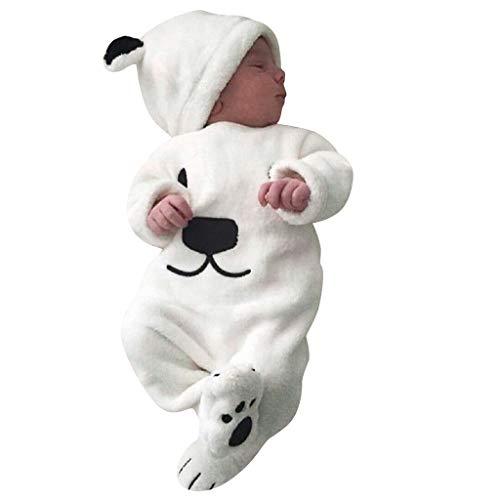 K-Youth Mameluco Bebe Niño Recien Nacido y Gorros Felpa Pelele Bebe Niña Invierno Body Infantil Unisex Niñas Mono de Nieve Algodón Conjunto de Ropa Niños Pijama Bebés Abrigo