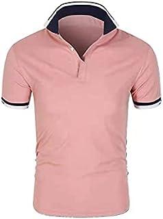 Nbhjzbcsmdx Mens Cotton T shirts. Men's polo shirt summer fashion classic casual top short sleeve high quality pure cotton...