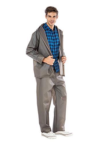 Impermeables Traje de Abrigo de Lluvia Chaqueta de Mujer Conjunto de Pantalones con Abrigo de Lluvia Impermeable Adultos-café_Metro