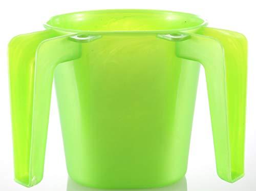 "By body-soul-n-spirit Light Green KIDS Hand Washing Cup Jewish Children ""NETILAT YADAYIM"" Israel Shabbat"