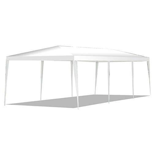ZWQ Carpa con Dosel para Exteriores de 10 x 30 pies con Paredes Laterales Carpa para gazebos de Patio, Color Blanco, 10 x 30 x 8.5 Pulgadas