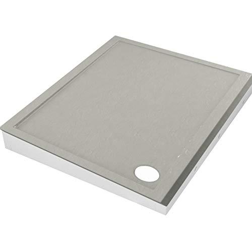 Plato de ducha efecto piedra con soporte de poliestireno, plato de ducha Cement Stone DIN 51097 A (90 x 120 x 4,5/17)