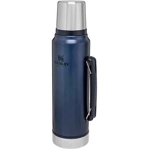 Stanley Classic Legendary Bottle 1L / 1.1QT Nightfall – Thermosfles houdt 24 uur warm of koud | Levenslange garantie | Vaatwasserbestendig | Roestvrijstalen Thermoskan | Lekvrij | BPA-vrij