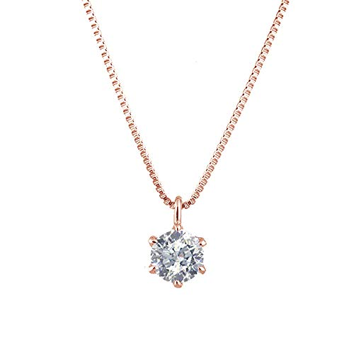 [京セラ] kyocera ダイヤモンド ネックレス K18ピンクゴールド 0.3カラット 一粒 ベネチアンチェーン 天然石 人気