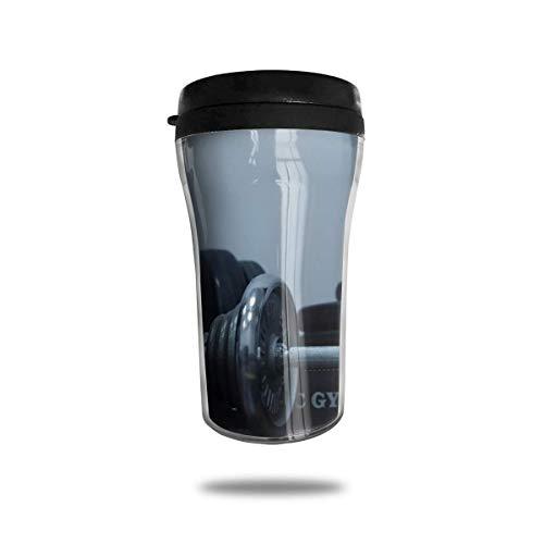 Taza de café de viaje con impresión 3D, taza de té aislada, taza de agua, taza de viaje para hombres, mujeres y niñas, color negro