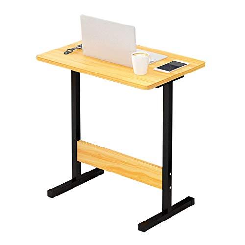 Household Simple Storage Table/Pokój dzienny Tabele Żółta kieszeń na laptopa, zdejmowany uchwyt na komputer, stolik z płyty MDF, biurko do sofy/sypialni lub overbed
