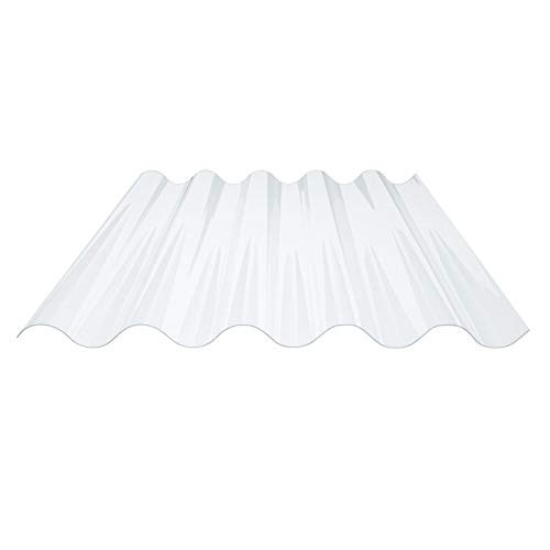Lichtplatte   Wellplatte   Lichtwellplatte   Profil 177/51   Material PVC   Breite 920 mm   Länge 1,25 m   Stärke 1,4 mm   Farbe Klargrünlich