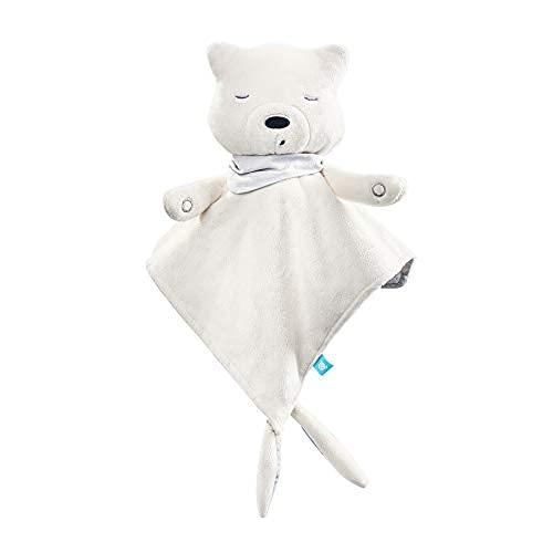 myHummy Einschlafhilfe Baby Doudou Premium ecru weiß | White Noise Baby Einschlafhilfe Kinder zur Baby Beruhigung | My hummy Einschlafhilfe Babys mit sanftem Ausklingen nach 1 Stunde