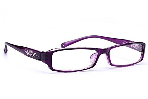 morefaz New Unisex (Damen Herren) Flower Blumen Retro Vintage Lesebrille Brille +0.50 +0.75 +1.0 +1.5 +2.0 +2.5 +3.00 +4.00 Reading Glasses (TM) (+2.00, Purple)