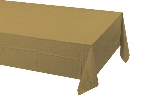 Creative Converting Nappe rectangulaire en Papier doublé de Plastique - 1 pièce - Doré Scintillant - 3 Plis - 137,2 x 274,3 cm
