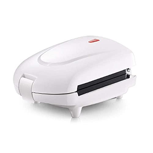 Máquina De Desayuno Multifuncional Mini Waffle Maker Sandwich Tostadora / Toastie Maker Freidora Máquina De Desayuno, Con 3 Tipos De Bandejas Para Hornear Antiadherente / Blanco / 450W