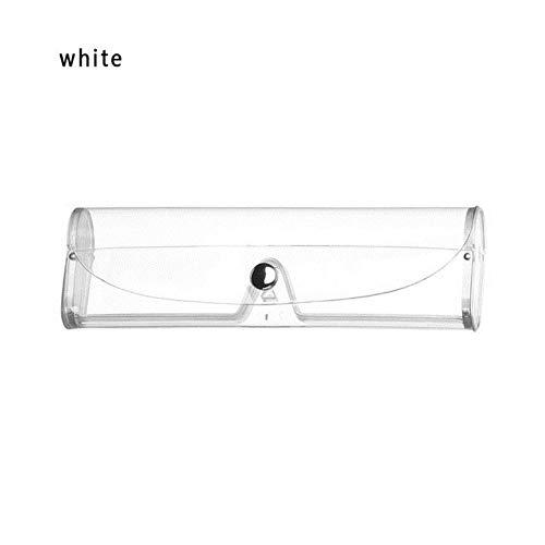 Boner Mode Marmer Patroon Sterke Magneet Bril Doos Waterdichte PU Draagbare Leesbril Zonnebrillenkoker Brillenbeschermer, wit
