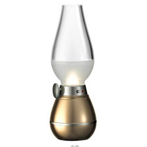 QXinjinxtd Lámparas para habitaciones Lámpara de queroseno vintage, control de soplado retro nostálgico LED, recargable por USB, portátil, brillo ajustable en el volante, luces de noche de luz de mesa