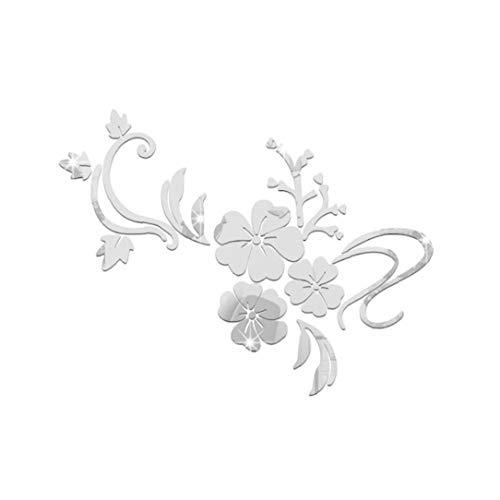 Arte de la Pared de DIY 3D Pegatinas de Pared Flor Pegatinas Mural acrílico Espejo de la Flor por habitación de los niños de la Etiqueta