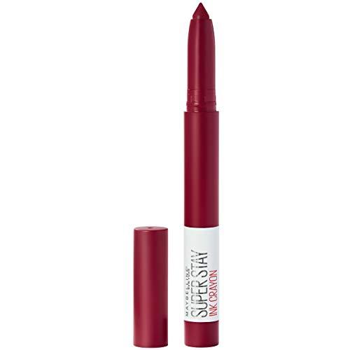 Maybelline SuperStay Ink Crayon Matte Longwear Lipstick With Built-in Sharpener, Make It Happen, 0.04 Ounce