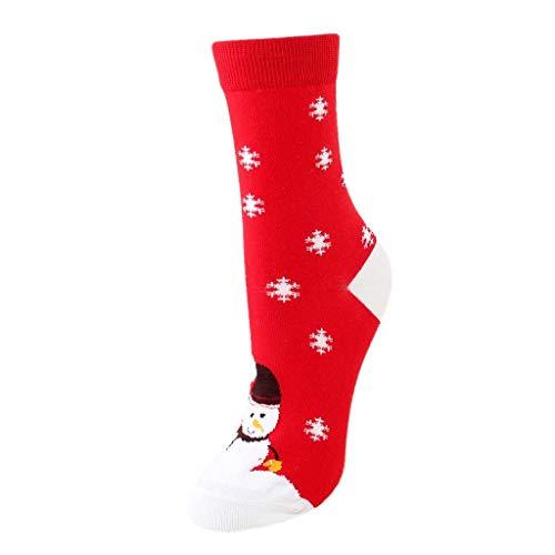 Akaide Socken, legere Weihnachtsdekoration, Cartoon-Druck, Arbeit, Business, Strumpfhose, atmungsaktiv, bequem, mittelgroß, robust, 12 Paar Gr. Einheitsgröße, e