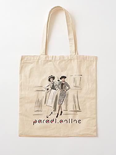 Genérico Online Show Fashion Coco Revista Paradi Model | Bolsas de lona con asas, bolsas de la compra de algodón duradero