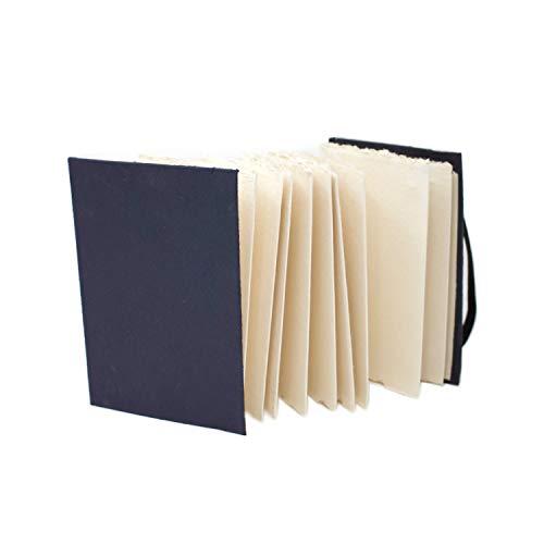 Artway 2303259 Indigo Rag Book Aquarell-Skizzenbuch, Paper, Weiß, A6 - Ziehharmonika - Hochformat