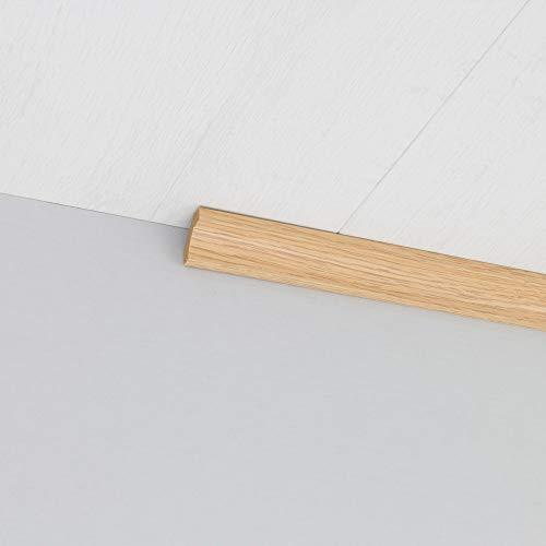 Hohlkehlleiste Abschlussleiste Abdeckleiste aus MDF in Eiche 2600 x 24 x 24 mm