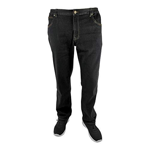 Herren 5-Pocket Jeans mit Reißverschlusstaschen 60, 62, 64, 66, 68, 70, XL, XXL, 3XL, 4XL, 5XL, 6XL, Große Größen, Übergröße, Big Size, Plus Size (70, schwarz)