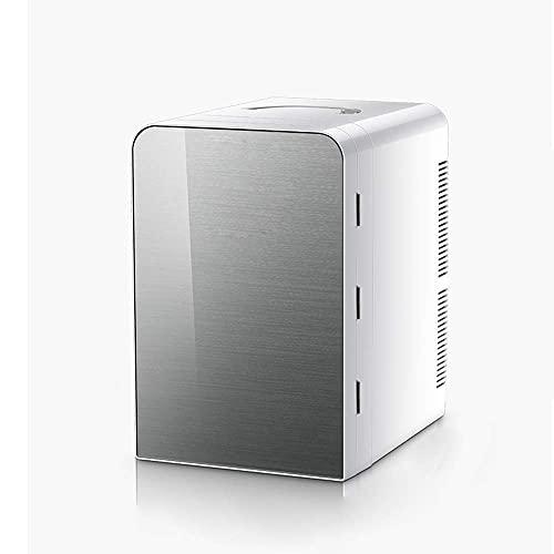 Mini nevera doméstica pequeña con nevera y calentador, nevera portátil de gran capacidad de 13 litros, congelador supersilencioso en el vehículo para coches.