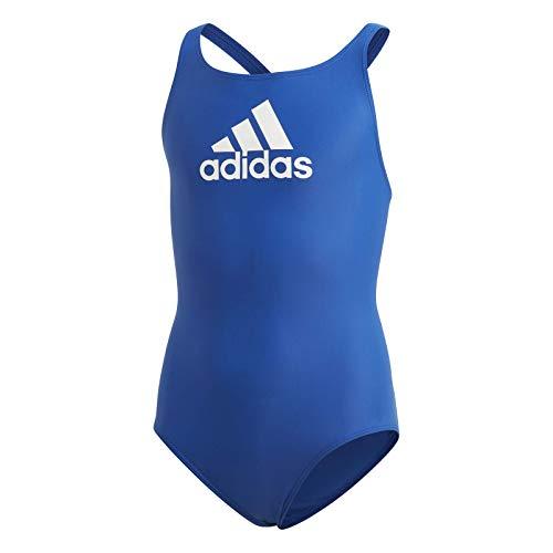 adidas YA BOS Suit Traje de baño, Unisex niños, Azurea/Blanco, 128 (7/8 años)