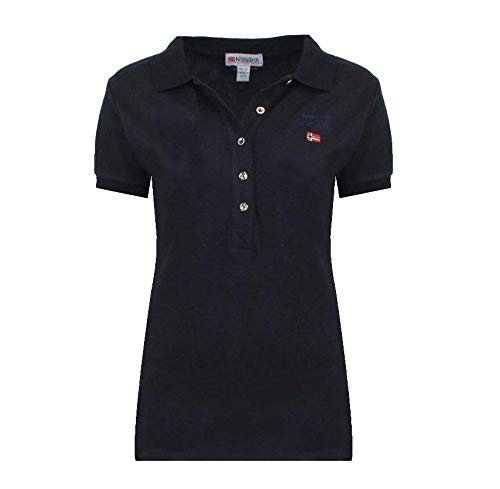 Geographical Norway Polo Kelodie Lady 100 % coton T-shirt femme ST4083F-GN-Blu-XL