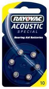 Rayovac bouton pour appareils auditifs-acoustique pR70 p. 10) (pack de 6 piles