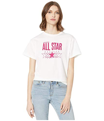 Converse Camiseta Mujer All Star Relaxed Blanco 10018421-A01