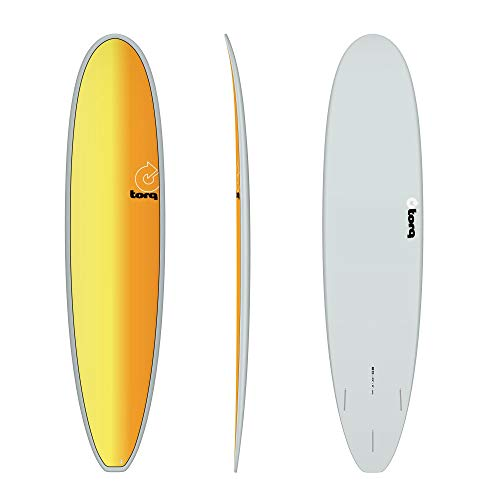 TORQ Tabla de surf Epoxy TET 8.0 Longboard Full Fade Mini Malibu