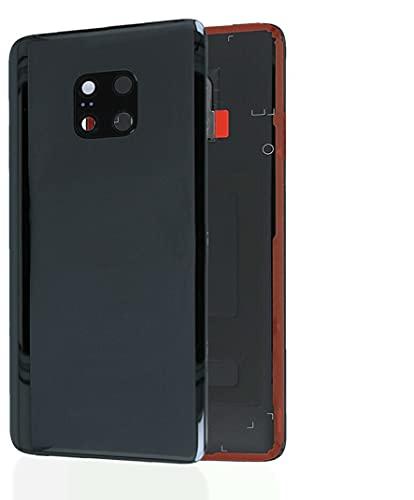 KIT 3 Pezzi Copri Batteria + biadesivo + lente compatibile per Huawei Mate 20 Pro LYA-L09 LYA-L0C LYA-L29 6.39 n.1 Vetro Posteriore Back Cover Retro Scocca + adesivo + Lente con cornice nero