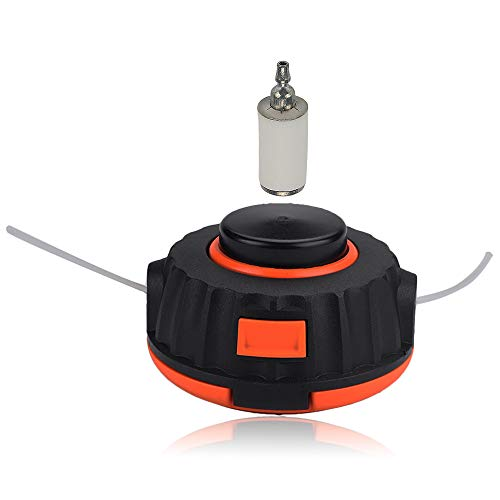 Alibrelo 537419211 P25 String Trimmer Head for Poulan Pro Weed Eater Craftsman P4500 PP125 PP136E PPB200E PPB32SST PPB350 MX557 BC233 BC433 Replace 596585805 537419215 537419202 with Fuel Filter