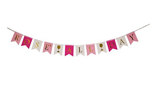 ROSÉ ALL DAY Banner- Perfect brunch party decorations, bachelorette party decorations, birthday party decorations, brosé party decorations and any other celebrations
