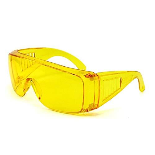 Gafas de protección laboral industrial Gafas protectoras de infrarrojos anti láser Lentes de PC Antivaho Anti-UV Anti-impacto Gafas (amarillo transparente) ESjasnyfall