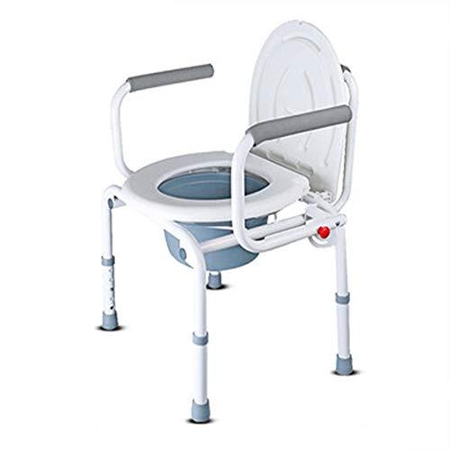 YXCA Toilet Mat Cojín Elevador De Inodoro Mujeres Embarazadas Portátiles Ancianos Postoperatorios Aseo Elevador De Inodoro Móvil Plegable con Reposabrazos con Tapa