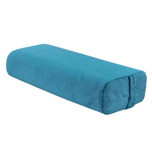 SFGSA Almohada de yoga con funda de algodón lavable a máquina y asa de transporte rectangular para meditación y apoyo, color azul