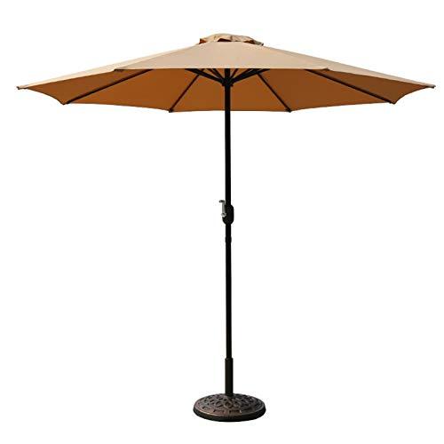HH- Sombrillas Sombrilla de Patio de 8,5 Pies / 2,6 M, Paraguas Al Aire Libre del Mercado de La Tabla con La Manivela para La Piscina Que Acampa de La Pérgola, 8 Varillas