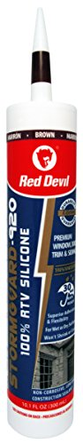Red Devil 078040 StormGuard 920 100% RTV Silicone Sealant (Brown), 10.1 Oz, 1 Pack