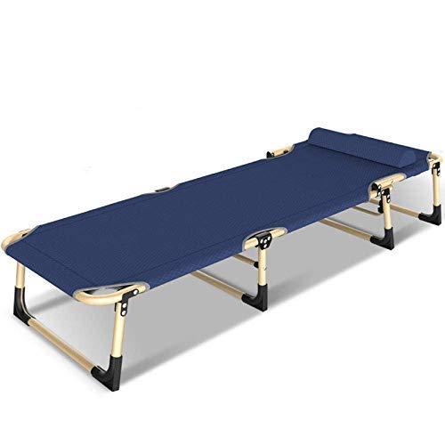 Tumbona Plegable para jardín, escritorios y sillas Tumbonas Plegables, tumbonas Planas, Respaldo Ajustable para Exteriores, sillón reclinable, Azul Marino ZZYYLLYZ