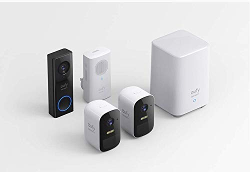 eufy Security, eufyCam 2C 2-Cam Kit, Wireless Home Security System with 180-Day Battery Life, 1080p HD, IP67, Night Vision with eufy Security, Wi-Fi Video Doorbell