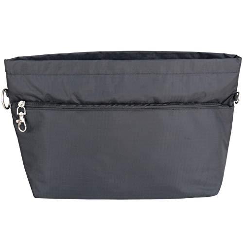 HyFanStr Handtasche Organizer Bag in Bag Taschenorganizer Einfügen Veranstalter Tasche Kosmetik Reise Schwarz XL